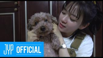 """JEONGYEON TV """"Cooking video of Doggy snack!"""" BEHIND SELF-CAM"""